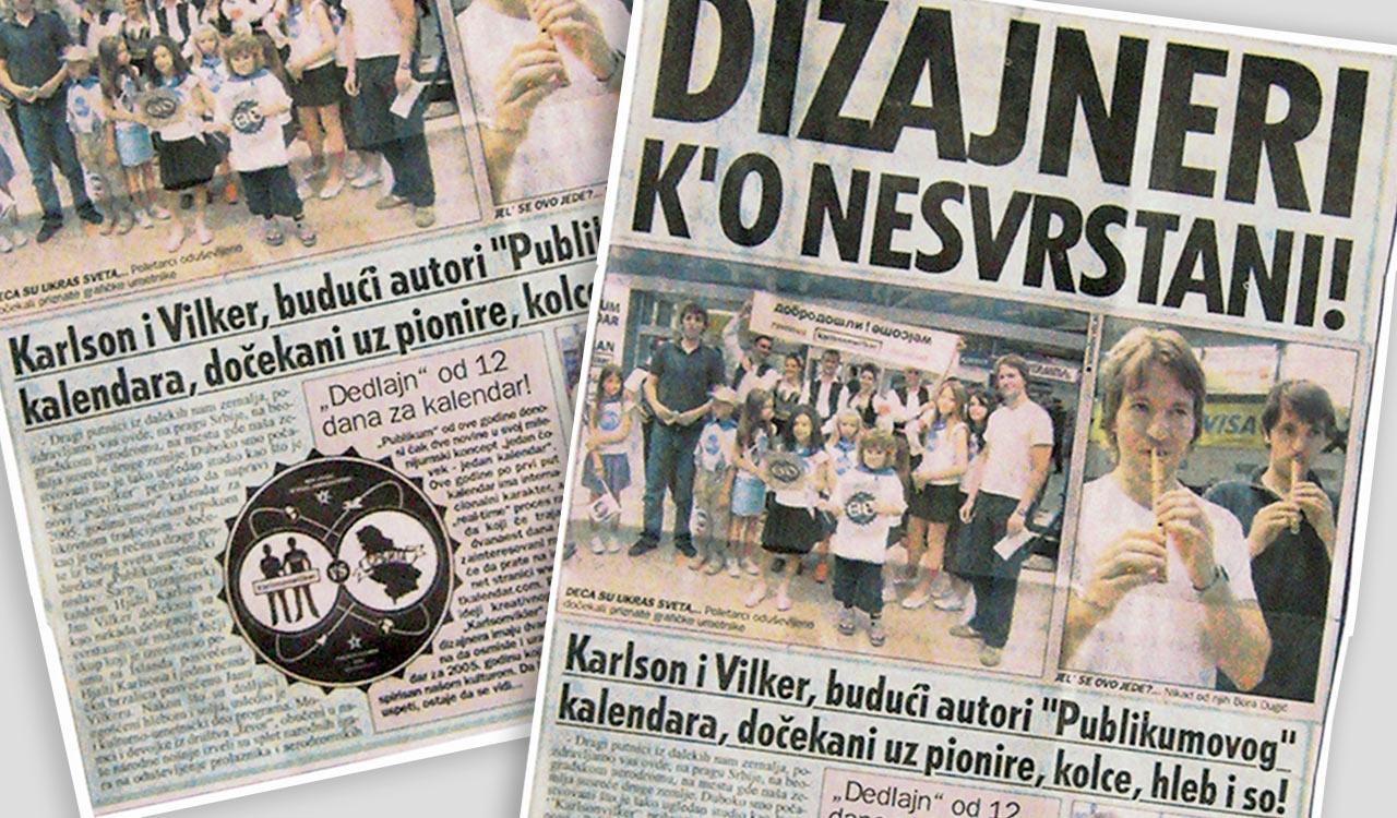 "Publikum Calendar ""Karlssonwilker VS Serbia"""
